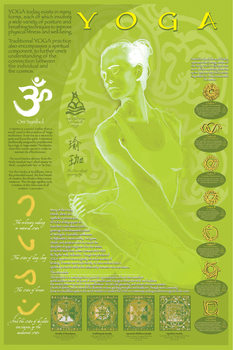 Poster Yoga and its symbols