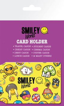 Smiley World - Pattern Pouzdro na karty