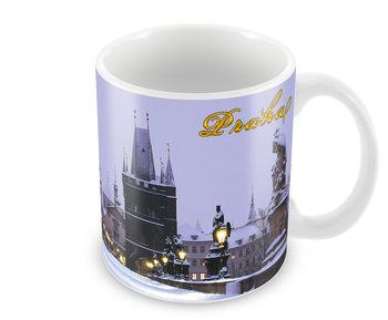 Csésze Prága – Karlův most / sníh