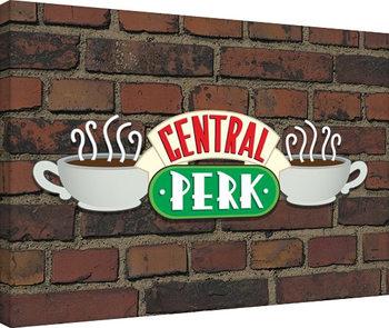 Plagát Canvas Priatelia - Central Perk Brick