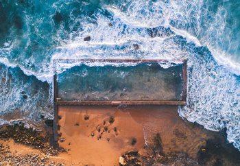 Beach Pool Print på glas