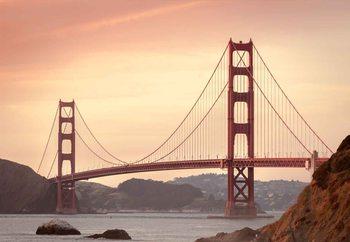 Golden Gate Print på glas