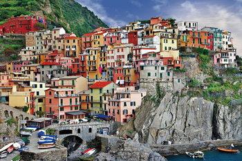 Italy - Cinque Terre Print på glas