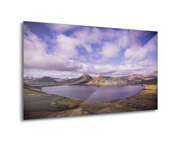 Lake View Print på glas