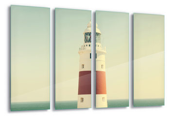 Lighthouse By The Sea Print på glas