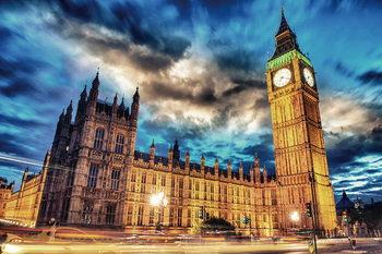 London - Big Ben Print på glas