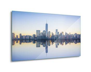 Manhattan Mirror Print på glas