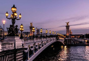Paris Evening Print på glas