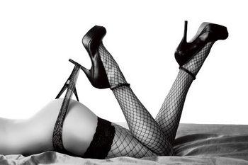 Passionate Woman - Sexy Legs Print på glas
