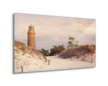 Pastel Lighthouse Print på glas