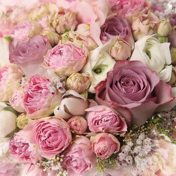 Romantic Roses 2 Print på glas