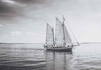 Sail Away Print på glas