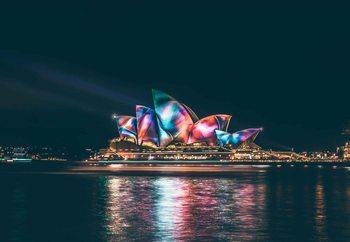 Sydney Lights Print på glas