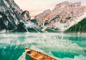 Turquoise Lake Print på glas