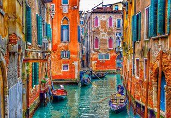 Venice Colours Print på glas
