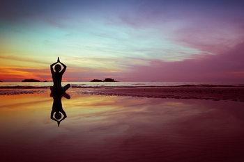 Yoga - Serenity Print på glas