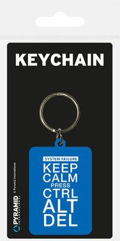 Keep Calm Press Ctrl ALt De Privjesak za ključeve