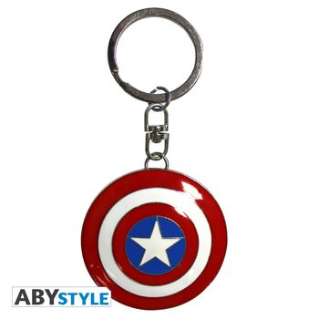 Privjesak za ključ Marvel - Shield Captain America