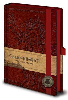 Hra o Trůny (Game of Thrones) - Lannister Premium A5 Notebook Psací potřeby
