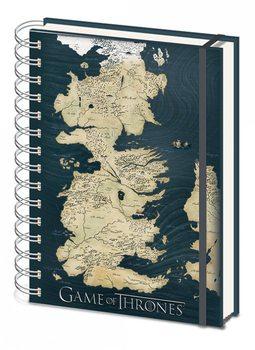 Hra o Trůny (Game of Thrones) - Map A5 notebook  Psací potřeby