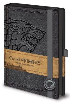 Hra o Trůny (Game of Thrones) - Stark Premium A5 Notebook Psací potřeby