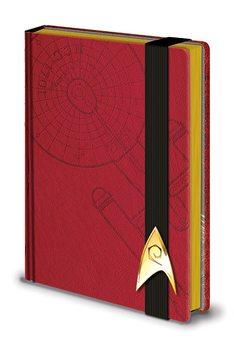 Star Trek - Engineering Red Premium A5 Notebook Psací potřeby