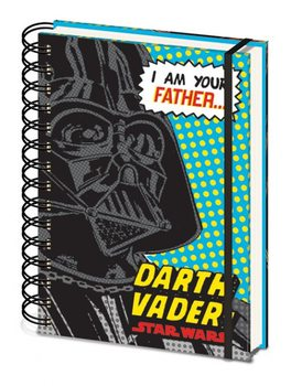 Star Wars - I Am Your Father A5 Notebook Blue Psací potřeby