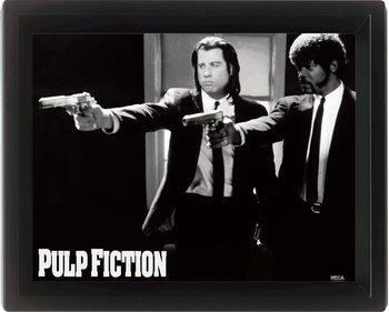 Πλαισιωμένη 3D αφίσα PULP FICTION - guns