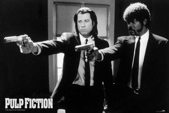 Pulp fiction - guns Poster encadré avec lamination