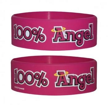 100% ANGEL Pulseras de silicona