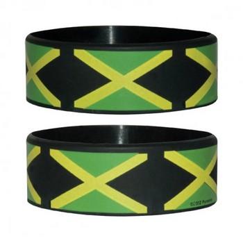 JAMAICAN FLAG Pulseras de silicona