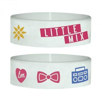 LITTLE MIX - white Pulseras de silicona