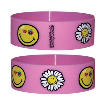 SMILEY - flowers Pulseras de silicona