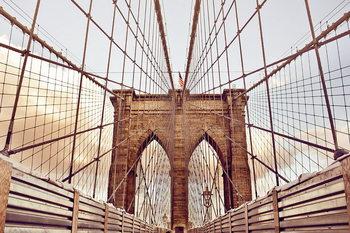 Quadri in vetro Brooklyn Bridge - Old Style, New York