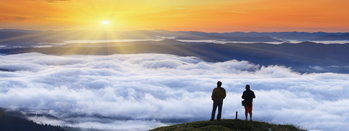 Quadri in vetro Success - Top of the Mountain