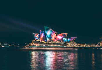 Quadri in vetro Sydney Lights