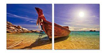 Quadro  Boat at the beach