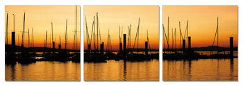Quadro Sunset over pier