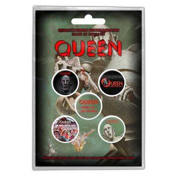 Σετ κονκάρδες Queen - News of the World
