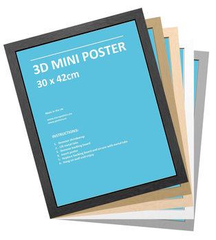 Rahmen - 3D Mini Poster 30x42 cm