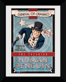 Batman Comic - Circus Human Penguin rám s plexisklem