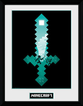 Minecraft - Diamond Sword rám s plexisklem
