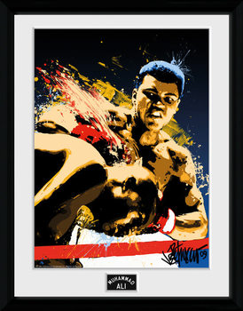 Muhammad Ali – Art 30x40cm Collector Print rám s plexisklem