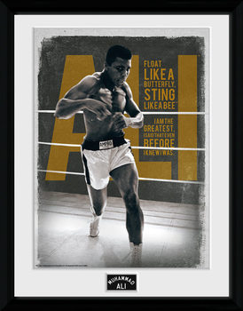 Muhammad Ali – Quotes 30x40cm Collector Print rám s plexisklem