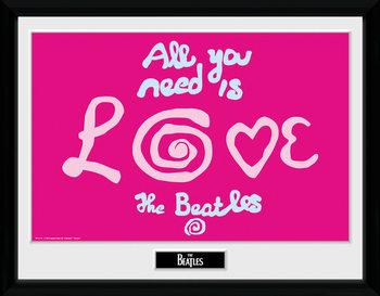 The Beatles - All You Need Is Love zarámovaný plakát