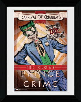 Batman Comic - Circus Joker rám s plexisklom
