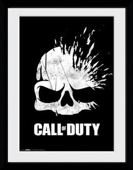 Call Of Duty - Logo Skull Zarámovaný plagát
