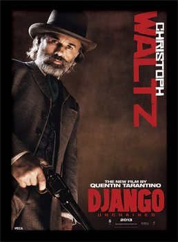 Divoký Django - Christoph Waltz rám s plexisklom