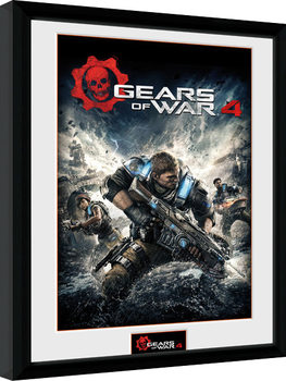 Gears of War 4 - Game Cover Zarámovaný plagát