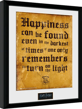 Harry Potter - Happiness Can Be Zarámovaný plagát